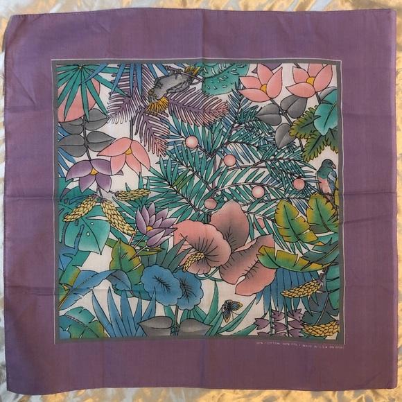 Vintage tropical pastel nature scene bandanna